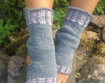 Yoga Socks Hand Knit Pilates Socks gray  Socks Dance Socks Slipper Socks Women Socks  Colorful Hipster Socks Yoga active wear