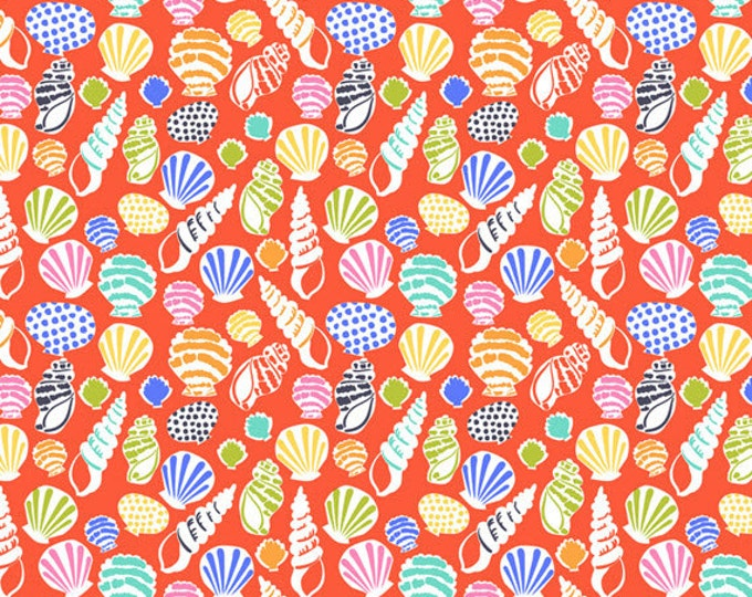 Half Yard Sun-sational - Beachcomber in Coral - Cotton Quilt Fabric - designed by Maude Asbury for Blend Fabrics - 101.117.02.2 (W3337)
