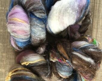 Dusk, Fiber Art Batt for spinning or felting, 3.1 ounces