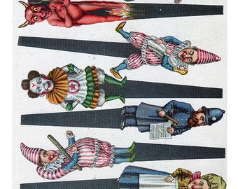 Punch and Judy Toy Theater Characters Altered Art/ Cards Craft/toy theater