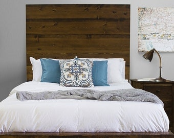Extra Tall Live Edge Solid Wood Bed Headboard Etsy