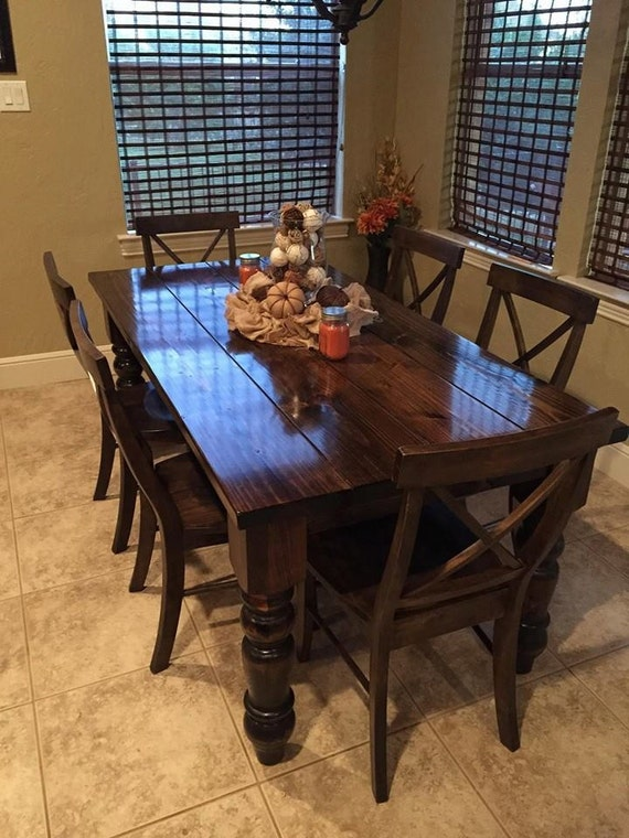 Baluster Farmhouse Dining Table Customizable By JamesAndJames