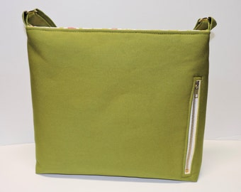 Canvas Conceal Carry Purse/Handbag/Tote/CCW/Leaf Green Canvas