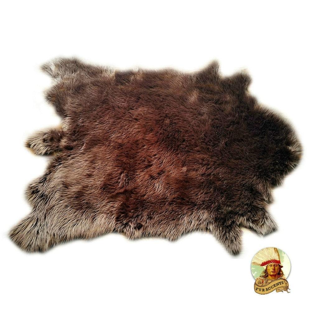 Classic Faux Fur Deer Skin Pelt Rug Buffalo Hide Area Carpet