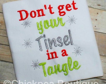 Instant Download: Don't Get Your Tinsel in a Tangle Embroidery Design