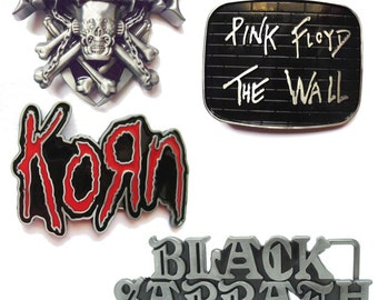 Belt buckle  - choice:  Korn |  Megadeth |  Black Sabbath | Pink Floyd - Gürtelschnalle