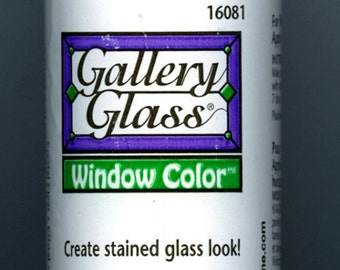 Plaid Gallery Glass Paint 16081 - 8 oz. Crystal Clear ~ Stained Glass Look