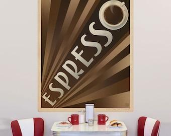 Espresso Art Deco Coffee Wall Decal - #55493