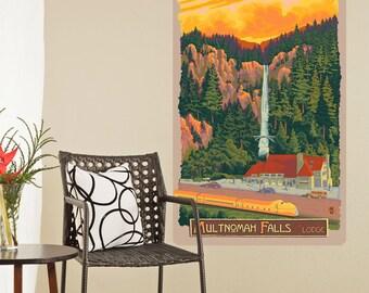Multnomah Falls Lodge Oregon Wall Decal - #60741