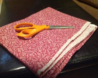 2 Yards Burgundy cotton calico