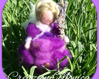 Fairy Lavender Lady, in style waldorf. mde to order.