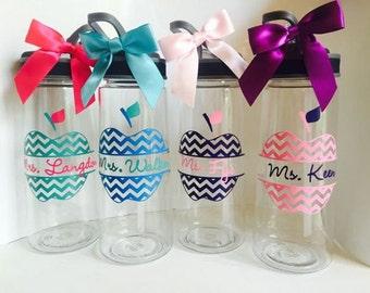 Personalized Teacher Water Bottle /Personalized Teacher Gift/Custom Teacher Appreciation Gift