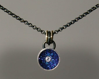 Evening Star Pendant, Evening Star Necklace, Tiny Star in Midnight Blue Sky by Jackie Taylor Designs