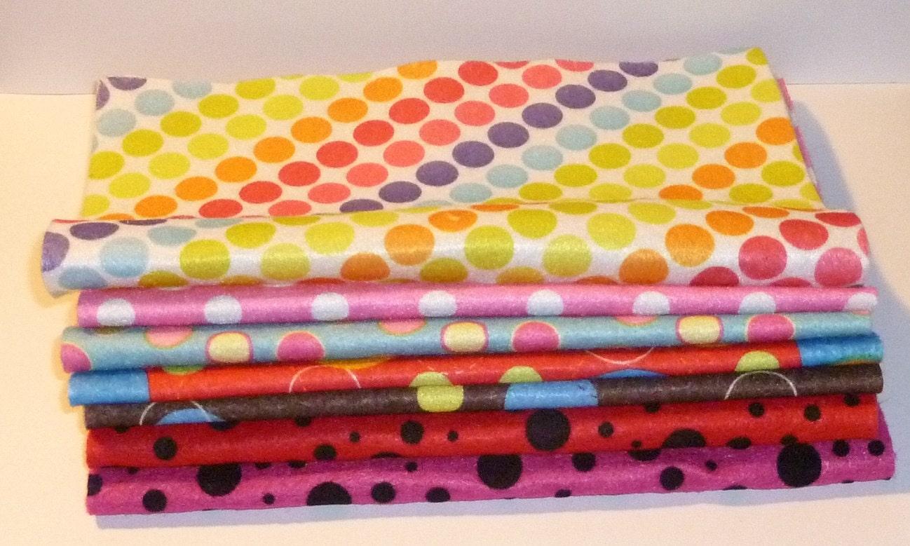 Polka dots dot felt sheets fabric 9x12 material polyester for Polka dot felt fabric