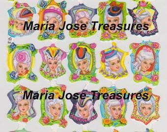 """Vintage Scraps, Cromos """"Marie Antoinette"""" - Digital Download"""