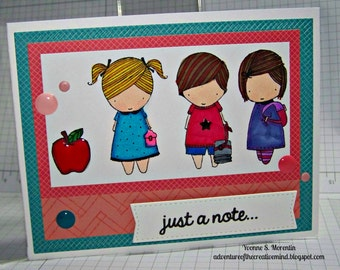 Just A Note... Greeting  Card...