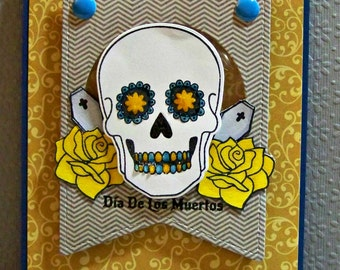 Dia De Los Muertos (Day Of The Dead) ...  Shaker Greeting Card