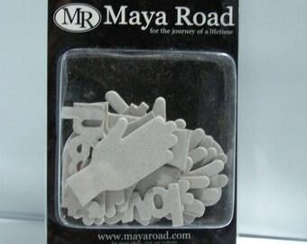 Maya Road Hand and Heart Chipboard Set