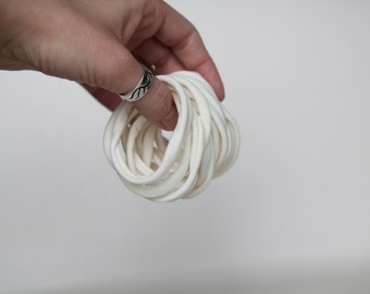 wholesale ivory Nylon hair tie, ponytail holder