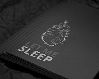 Illustrated, Illustration, Poetry Zine Book: Let Me Sleep