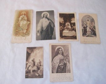 Antique religious funeral cards, collection of funeral cards, religious cards, 1930s, St. Therese, Sacred heart of Jesus, 1157r