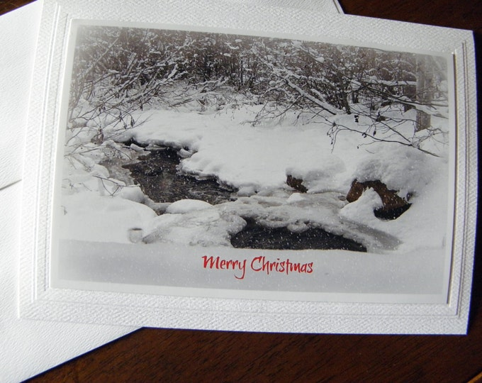 CHRISTMAS Greeting Card Set - 12 Cards and Envelopes AND Free Shipping too!