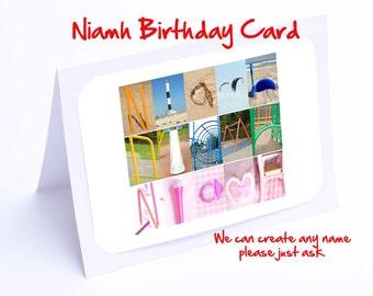 Niamh Personalised Birthday Card