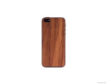 Real Teak iPhone 5 / 5s 4 / 4s Wood Skin