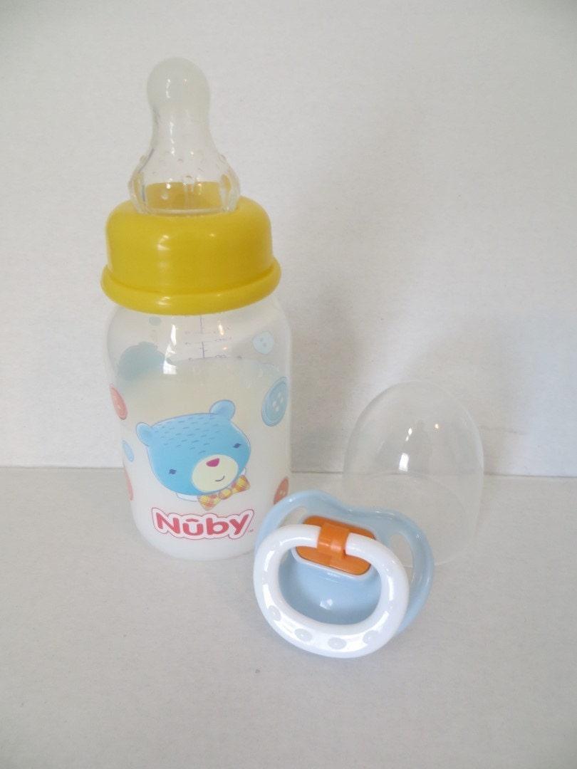 Reborn Baby Doll Bottle Nuby Bear Blue Boy Choose Magnet