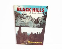 The Black Hills of South Dakota, Vintage Guide Book, 90 Views Natural Color, SD Souvenir, Dexter Press, Guidebook Map Mount Rushmore Reptile