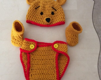 Crochet Pooh outfit