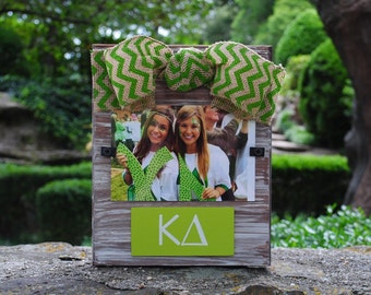 Kappa Delta Whitewashed Rustic Frame With Greek Letters