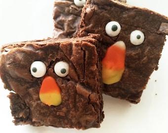 Brownies - Halloween Brownies -Brownies - Fudge Brownies - Gourmet Edible Sweets - Bakery