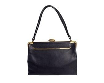 Vintage Modell Gold Pfeil leather purse black bag handbag
