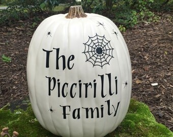 Personalized Family pumpkin decals, Family name, Halloween Decor, DIY decal kit, Front porch decor