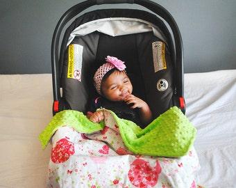 Pink Minky Baby Blanket - Pink Baby Blanket - Pink Minky Blanket - Pink Blanket - Tea Party Baby Blanket
