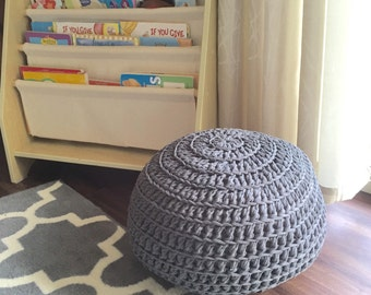 Crochet Pouf - Crochet Ottoman - Yoga Cushion - Kids Seat