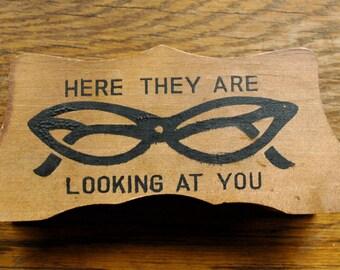 Vintage 1960s Wooden Glasses Holder