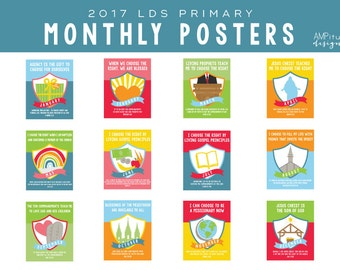 201 LDS Primary Theme Posters - Printable - Choose the Right - Instant Download - Sharing Time - 2017 Primary - Mormon Art - CTR - Download