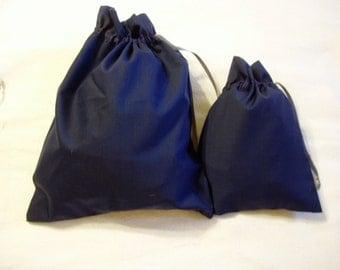 Silk Wool blend travel bags