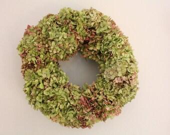 Big dried floral Hydrangea wreath-handmade 37cm 14.56 inch