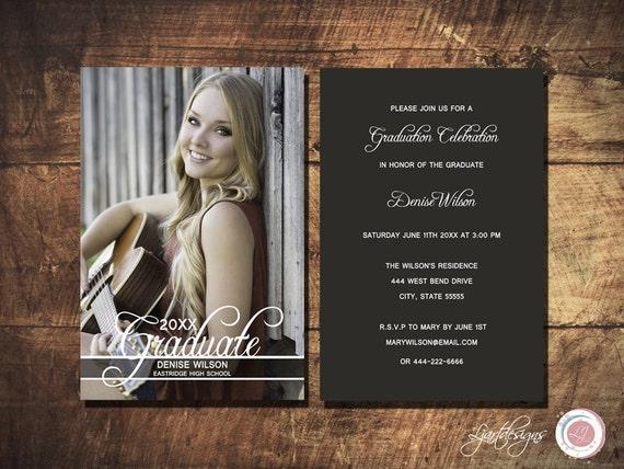 Photo Graduation Invitation Script Text Anouncement
