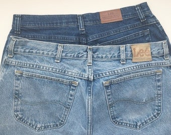 Vintage Lee Stone Wash Denim Jeans