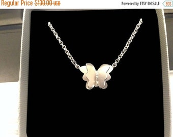 ON SALE Butterfly Necklace - Butterfly Silver Necklace - Butterfly Pendant for her