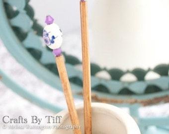 Purple Hairstick