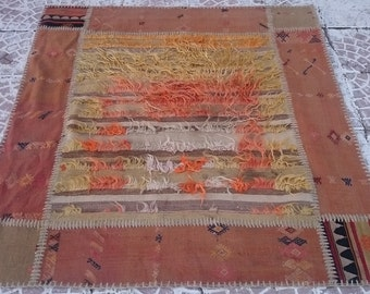 Vintage Turkish Patchwork Kilim rug 52x49