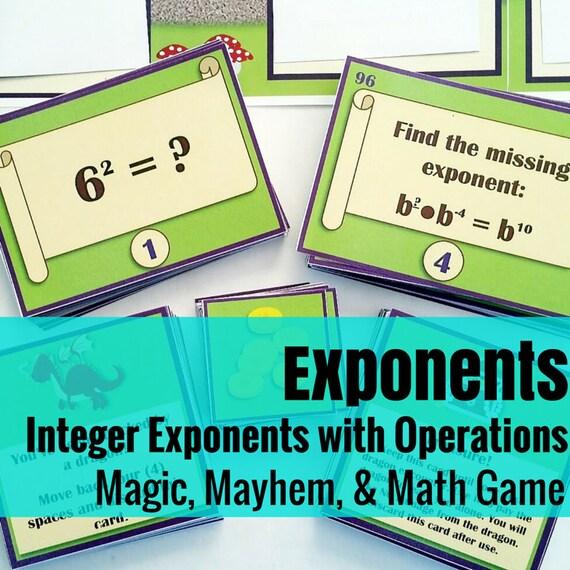Magic, Mayhem, and...Math! : Integer Exponents (A Math Game Full of Adventure!)