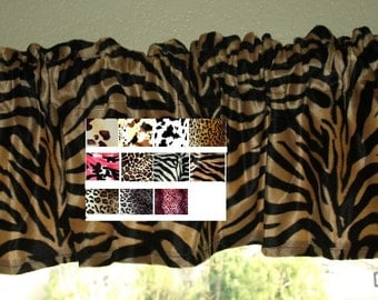 Animal Print Window Valance
