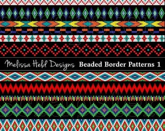 Beaded Border Patterns Clipart 1