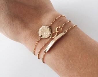 Personalized Bracelets / Stacking Bracelets/ Bar Bracelet / Bracelets For Her